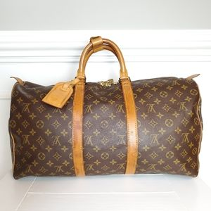 Louis Vuitton Keepall 50 Boston Bag